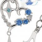 Disney 35th Anniversary Cinderella glass shoes motif necklace Open Heart Silver