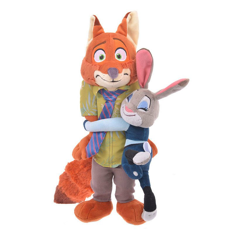Disney Store JAPAN Nick & Judy Hug & Smile Plush doll Figures