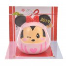 Disney Store Japan Daruma Mascot Minnie Mouse Figure Desk Ornament