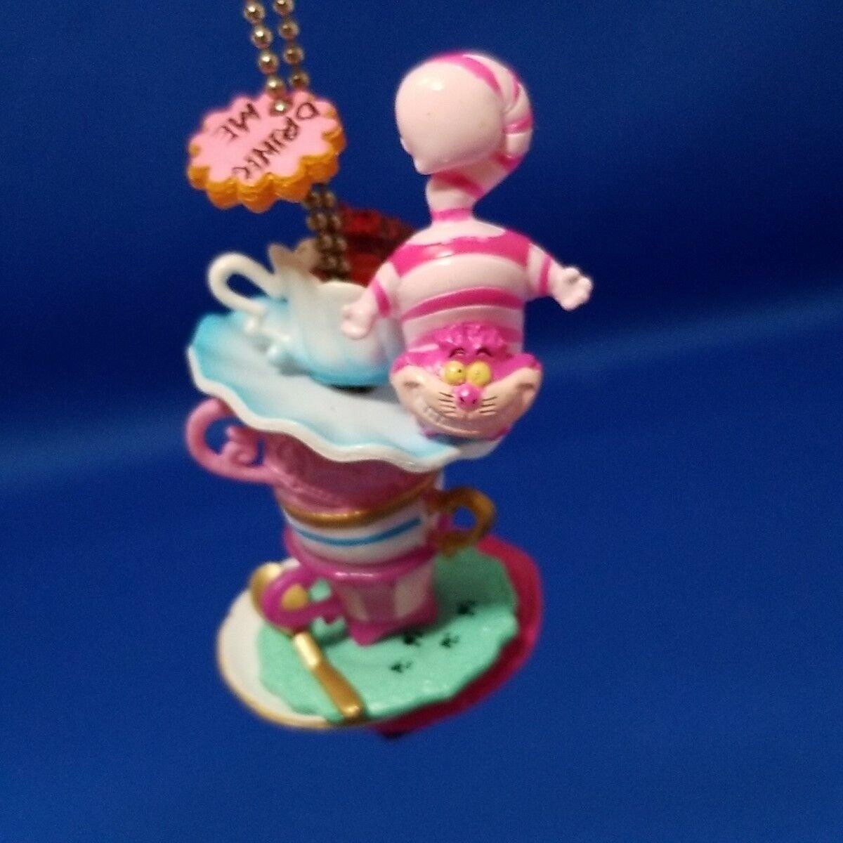 Disney Alice in Wonder Land Cheshire Cat Tea cup miniature Figure key holder
