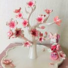 Disney Minnie Mouse Cherry blossom flower resin accessory stand Jewelry holder