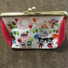 Tokyo Disney Land Mickey & Minnie Daisy& Donald Chip & Dale Embroidery pouch