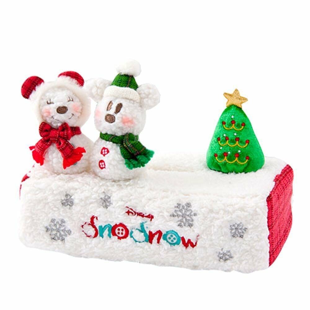Tokyo Disney Resort Christmas 2017 Snow Snow snowman Tissue Box Cover Case TDL