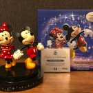 Disney Store JAPAN 25th Anniversary Mickey&Minnie Mouse  Figure Doll 2500Limited