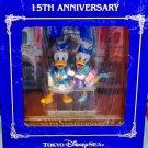 Tokyo Disney Resort 15th Anniversary Donald & Daisy Figurine Grand Finale Doll T