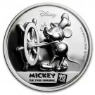Disney 2018NIUE 90th Anniversary Mickey Mouse Silver Coin Proof with Certificate