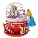 Disney Alice Christmas snow globe White rabbit tea cup Snow dome Figure ornament