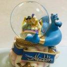 Aladdin Music box water globe rotation dome Genie Figure Snow globe Sankyo Japan