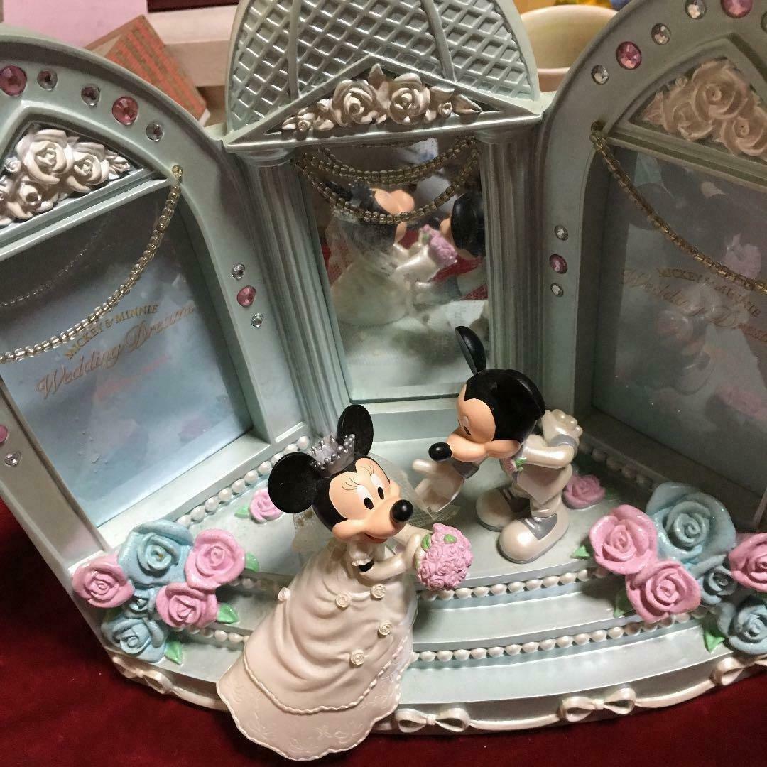 Disney Store Mickey & Minnie Mouse Wedding Photo Frame Bridal Photo Stand