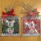 Tokyo Disney Resort  Christmas Mickey & Minnie Mouse Snow Snow Snowman Magnet