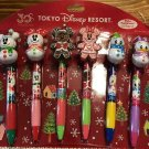 Tokyo Disney Resort 30th Snow Snowman Mickey Ballpoint Pen Christmas Gift TDL