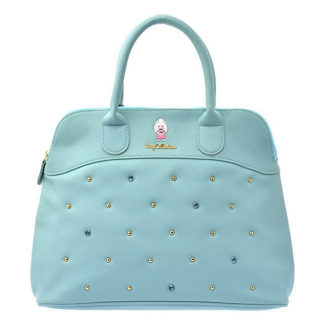 Disney Store Young Oyster Tiny Boston Handbag Alice Embroidery Blue Baby Oyster