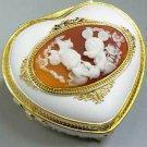 Disney Antimony Cameo Jewelry box music box Accessory case heart Sankyo Japan