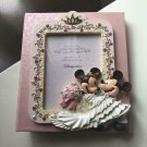 Disney Store Mickey & Minnie Wedding Photo Frame & Album Figure Stand