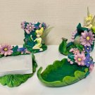 Tinkerbell Pottery Stationery set Figure Tape cutter Holder Pen stand Memo tray