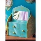 Disney Store Japan Aladdin Jasmine Makeup Box Mini Eyebrow Accessory Case Stand