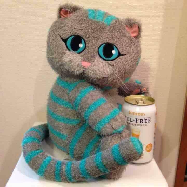 Alice in Wonderland Little Cheshire Cat Mega jumbo Plush doll plush toy23.6 inch