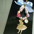 Tokyo Disney Resort Alice in Wonderland Strap Mascot Key chain Figure TDL