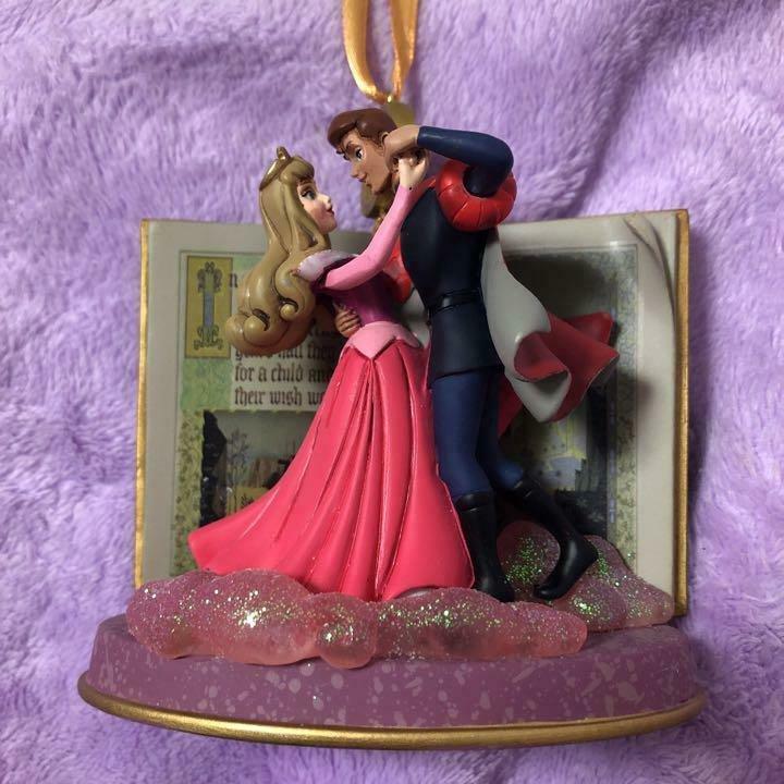 Disney Christmas Ornament Sleeping Beauty Princess Aurora & Prince Philip Figure
