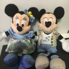Disney Aurani Hawaii Limited Mickey & Minnie Mouse Pair Plush Doll set