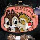 Disney Chip and dale Sagara embroidered gutter shoulder bag purse pouch bag