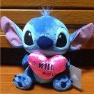 Disney Store Japan Stitch Heart Plush Doll Heartful time Valentine plush doll
