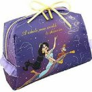 Disney Aladdin Jasmine Accessory pouch makeup case bag purple with ribbon