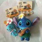 Disney Store Lilo and Stitch Stitch & Scram Hawaiian Mascot Plush Doll hula