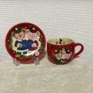 Tokyo Disney Sea Duffy Sherry May Christmas Souvenir Cup & Plate Set Red