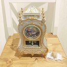 Disney Alice in Wonderland Castle Clock L Table Clock Chisha cat Japan