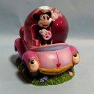 Disney Store Japan Minnie Mouse & Car Snow Globe Fig Dome Ornament