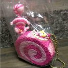 Alice Sweets mascot Miniature rement Cheshire cat Roll cake key chain Key ring