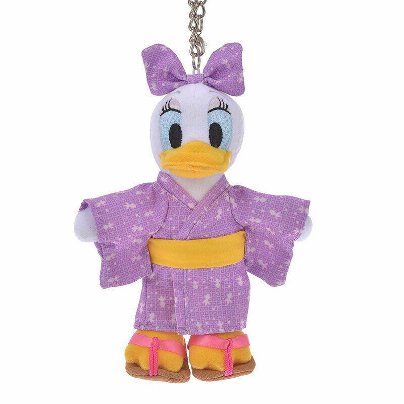 Disney Store Japan Daisy Yukata Kimono Stuffed Toy Keychain Key Chain Strap Doll