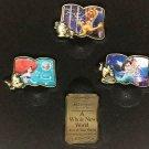D23 Expo Japan 2018 Ariel Aladdin beauty & the Beast Bell jasmine Pin Badge Set