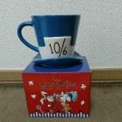 Disney Store Alice in wonderland Mad Hatter's Hat Mug cup 10/6 Blue with carton