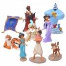 Disney Store JAPAN Aladdin Jeanie Jasmine Aladdin Abou Raja Jafar Figure set