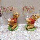 Tokyo Disneyland Winnie the Pooh Figure pair Glass Cup set Ornament Tumbler TDR