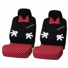 BONFORM Minnie mouse Front seat cover bucket type light Black Red dot for Car