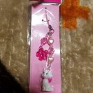 Tokyo Disney Resort Aristo cats Marie strap key mascot with pink flower