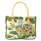 Disney Snow White Gobelin weave Seven Dwarfs Tote Bag FOLK WOOD LAND Hand bag