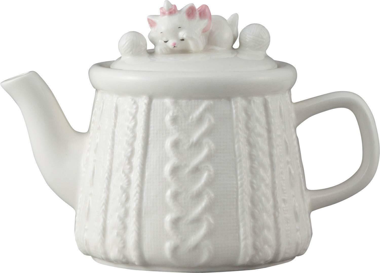 Disney Arist cats Marie figure Teapot 450 ml White cafe pot Japan