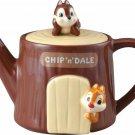 Disney Chip and Dale Tea Pot House wooden house 350cc Pottery pot Brown Japan