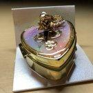 Disney Little Mermaid Ariel Heart Mirror Earring Case Jewelry Box Accessory Case