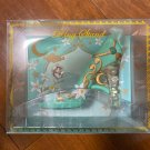 Disney Aladdin Jasmine RING stand Slippers shoes Jewelry holder figure ornament