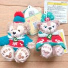 Tokyo Disney Sea Christmas Duffy & Sherry May Plush doll Knit costume strap TDR