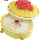 Disney Store Japan Beauty and the Beast Bell Ring Yellow Rose Ring Christmas Gif