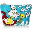 Alice in Wonderland White Rabbit Sagara Embroidery Large Big Pouch Bag case