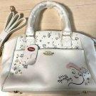 Disney store Little Mermaid Ariel Boston bag tote 2WAY bag Beige shoulder bag
