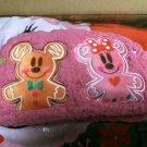 Tokyo Disney Land Christmas Snow Snow Mickey & Minnie Mouse Snowman Pouch Bag