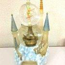 WDW Tinkerbell light up Castle Snow globe Music box snow dome Cinderella Castle